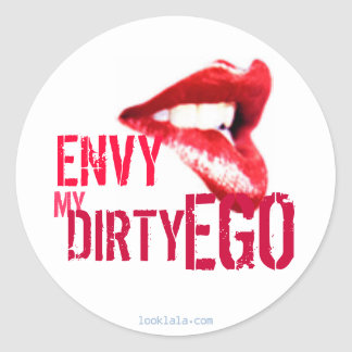 Envy my Ego Classic Round Sticker