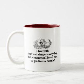 EOD fear and dander scrab Two-Tone Coffee Mug