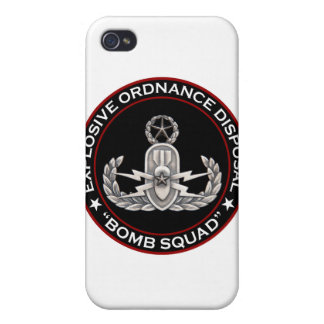 """EOD Master """"Bomb Squad"""" iPhone 4/4S Covers"""