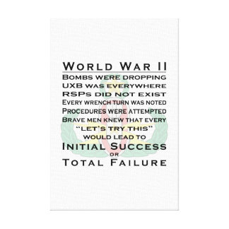 EOD Master WWII Canvas Print