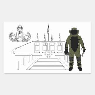 EOD Memorial Bomb Suit Rectangular Sticker