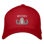 EOD Red Hat Embroidered Cap