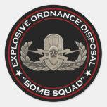 "EOD Senior ""Bomb Squad"" Round Sticker"