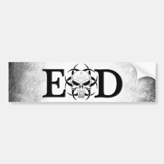EOD skull with crab grunge Bumper Sticker
