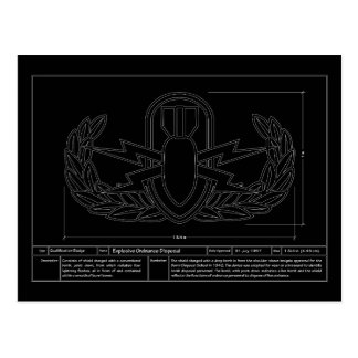 EOD Technical Drawing Postcard