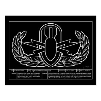 EOD Technical Drawing white Postcard