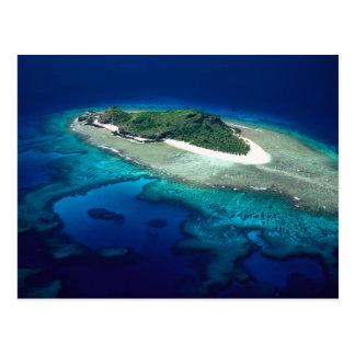 Eori Island, Mamanuca Islands, Fiji - aerial Postcard