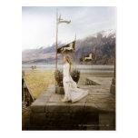 Eowyn on Castle Steps Post Card