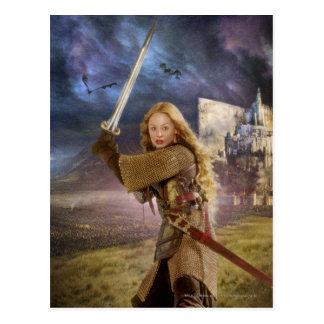 Eowyn Raises Sword Postcard