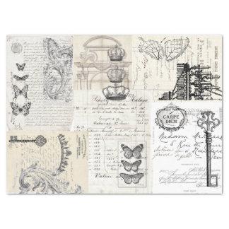 Ephemera Collage Decoupage Sheet Tissue Paper