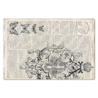Ephemera Decoupage Sheet Tissue Paper