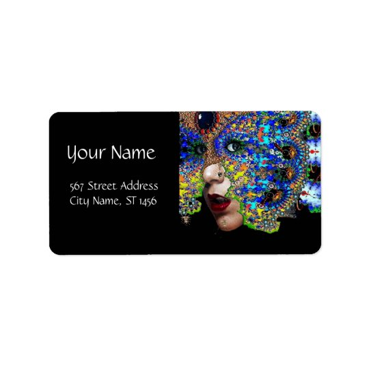 EPHEMERAL / BLUE  BLACK ADDRESS LABEL