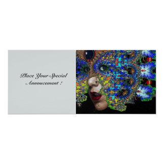 EPHEMERAL sweet 16 masquerade ball silver 10 Cm X 24 Cm Invitation Card