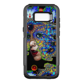 EPHEMERAL/ WOMAN WITH COLORFUL FRACTAL MASK Blue OtterBox Commuter Samsung Galaxy S8+ Case