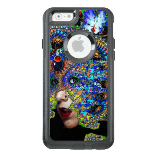 EPHEMERAL/ WOMAN WITH COLORFUL FRACTAL MASK Blue OtterBox iPhone 6/6s Case