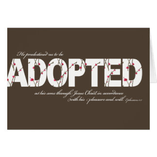 Ephesians 1:5 Adoption Card