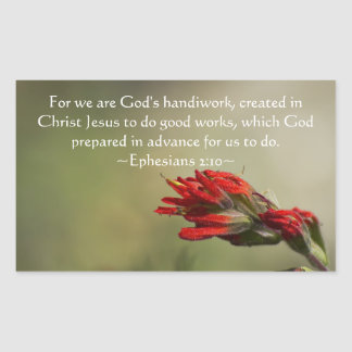 Ephesians 2:10 rectangular sticker