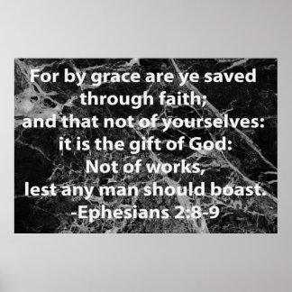 Ephesians 2:8-9 poster
