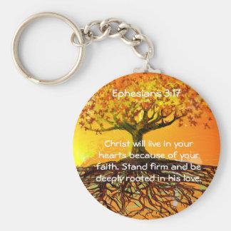 Ephesians 3:17 key ring