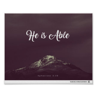 Ephesians 3:20 - He is Able Poster