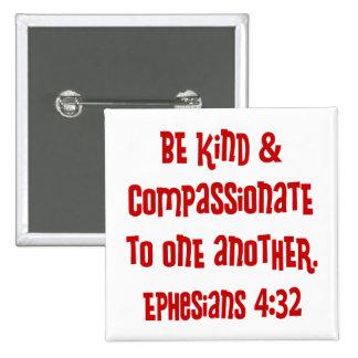 Ephesians 4:13, red 15 cm square badge