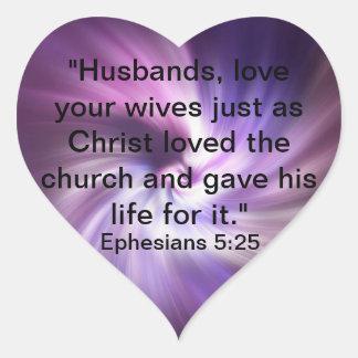 Ephesians 5:25 heart sticker