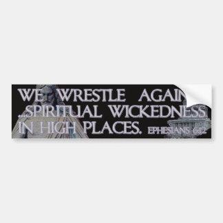 Ephesians 6:12 Bible Quotation Bumper Sticker