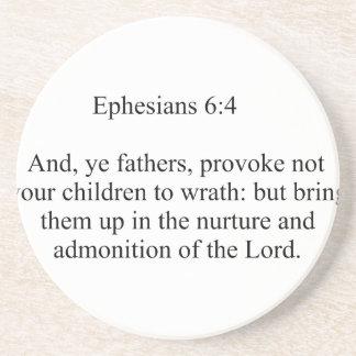 Ephesians 6:4 coaster