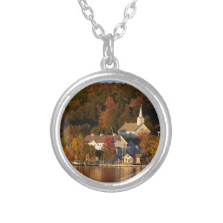 Ephraim, Wisconsin at Sunset Silver Plated Necklace
