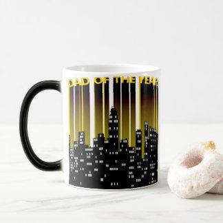 Epic 3D Dad of the Year City Night Lights Magic Mug