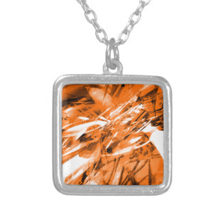 EPIC ABSTRACT d10s3 Silver Plated Necklace