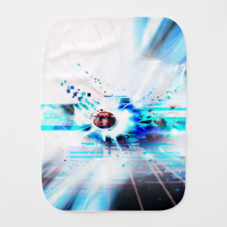 EPIC ABSTRACT d1s3 Burp Cloth