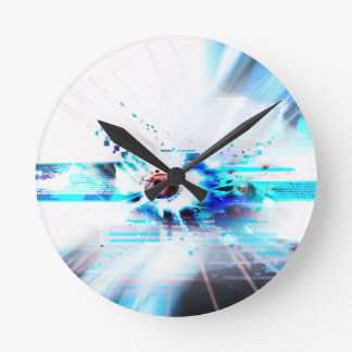 EPIC ABSTRACT d1s3 Round Clock