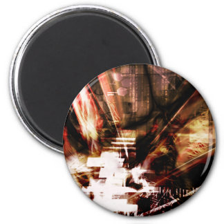 EPIC ABSTRACT d4s3 6 Cm Round Magnet