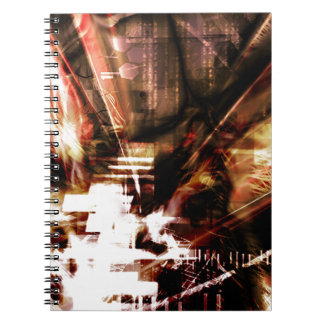 EPIC ABSTRACT d4s3 Spiral Notebooks