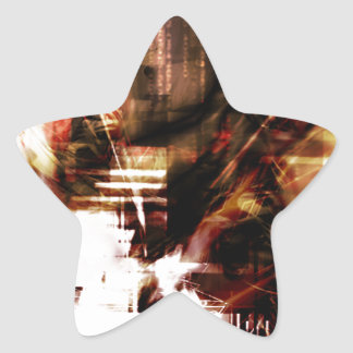EPIC ABSTRACT d4s3 Star Sticker