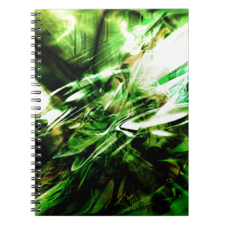 EPIC ABSTRACT d6s3 Spiral Notebook