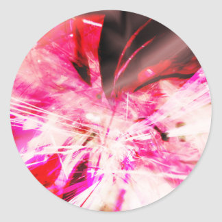EPIC ABSTRACT d7s3 Classic Round Sticker