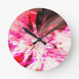 EPIC ABSTRACT d7s3 Round Clock
