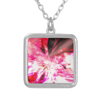 EPIC ABSTRACT d7s3 Silver Plated Necklace