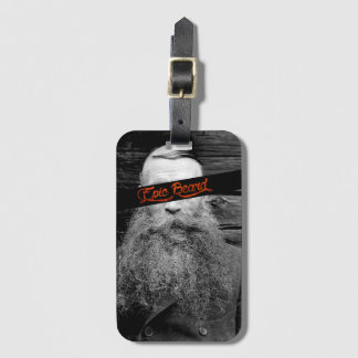 Epic beard luggage tag