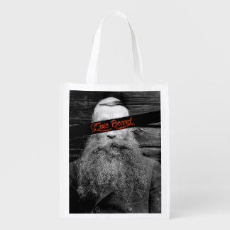 Epic beard reusable grocery bag