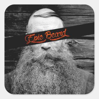 Epic beard square sticker