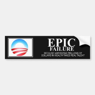 Epic Failure: Obama Edition Car Bumper Sticker