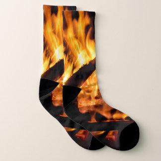 Epic Fire Flames Photo Socks