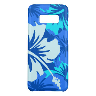 Epic Hibiscus Floral Hawaiian Turq and Blue Case-Mate Samsung Galaxy S8 Case