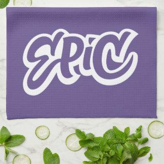 EPIC Lettering Ultra Violet Purple Color of Year Tea Towel