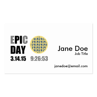 """Epic Pi Day - E""""PI""""C Day Blueberry Lattice Pie Pack Of Standard Business Cards"""