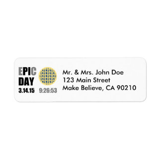"Epic Pi Day - E""PI""C Day Blueberry Lattice Pie Return Address Label"
