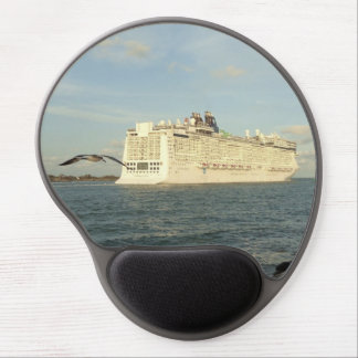 Epic Pursuit - Bird Following Cruise Ship Gel Mouse Pad